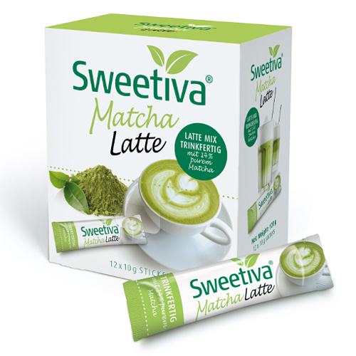 SWEETIVA Matcha Latte Sticks 12 x 10g
