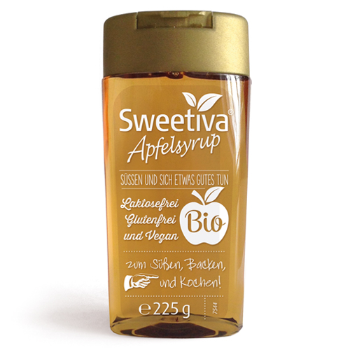 SWEETIVA Apfelsyrup Squeeze Flasche 225g